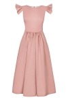 Salmon pink fit & flare midi dress  Butterfly  by Swing