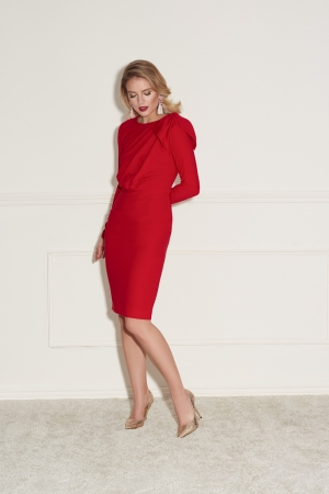 Red pencil midi dress Bridget by Swing