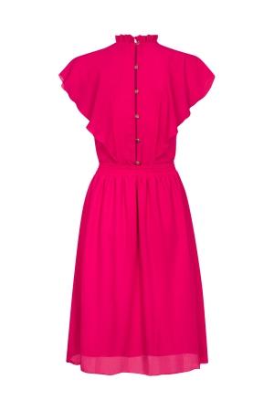 92ab4db151 Różowa plisowana sukienka Harmony SWING Różowa plisowana sukienka Harmony  SWING