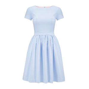 c37a0937b0 Błękitna rozkloszowana sukienka Baby Blue mini by Swing ...