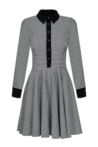 Hound's tooth checked fit & flare dress Natalie by Swing