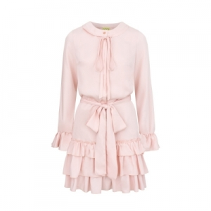 68be13fedf Pudrowo różowa sukienka Lena by Clooe ...