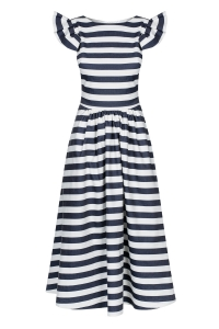 Striped fit & flare midi dress Butterfly by Swing