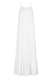 White skinny strap maxi dress