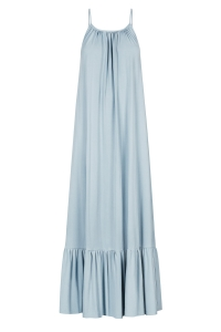 Baby blue skinny strap maxi dress
