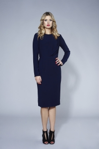 Navy blue pencil midi dress Bridget by Swing