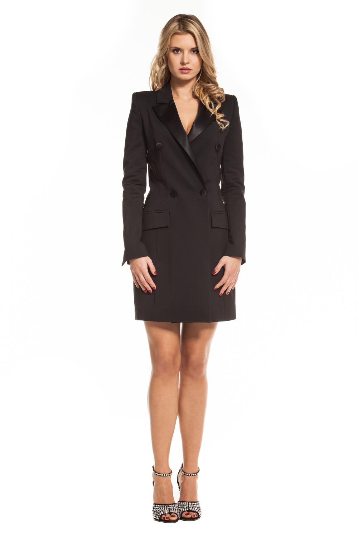 ef54d2462f Czarna smokingowa sukienka Martini SWING SWING FASHION STORE