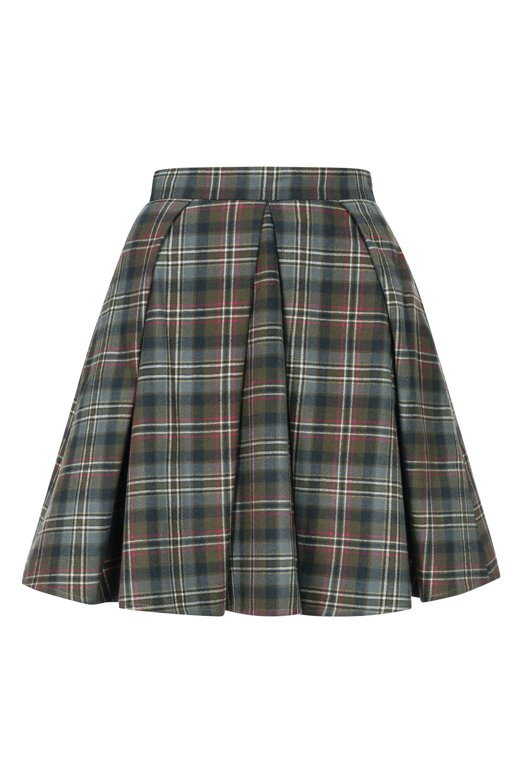 1aa0f02173 Wełniana spódnica w kratę by Swing SWING FASHION STORE