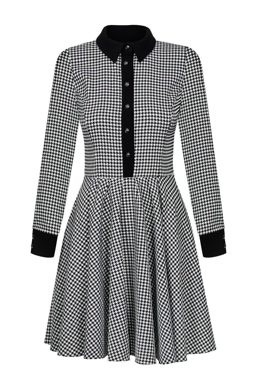 bdefae90c7 Rozkloszowana sukienka w pepitkę Natalie SWING SWING FASHION STORE