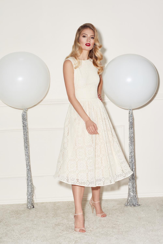 4f82e0457c Koronkowa sukienka midi Scarlett by Swing SWING FASHION STORE