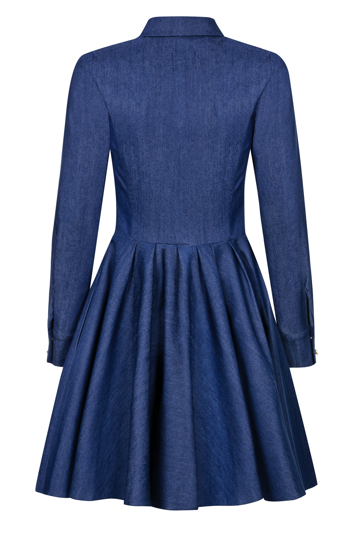 de2cb395c5 Jeansowa rozkloszowana sukienka Natalie SWING SWING FASHION STORE