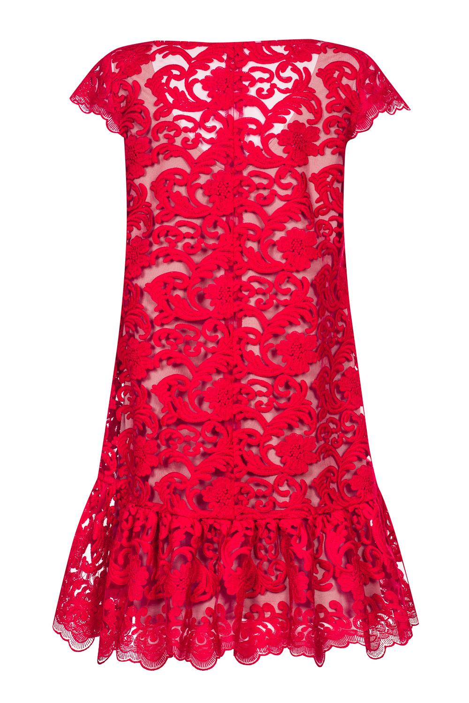 242e32c5d9 ... Czerwona koronkowa sukienka PUCCI by Swing ...