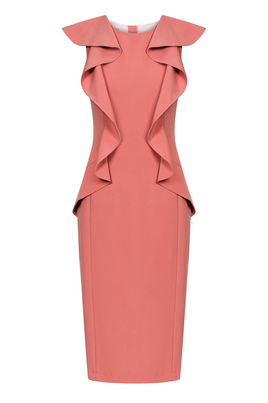Łososiowa sukienka ROSALIA by Swing