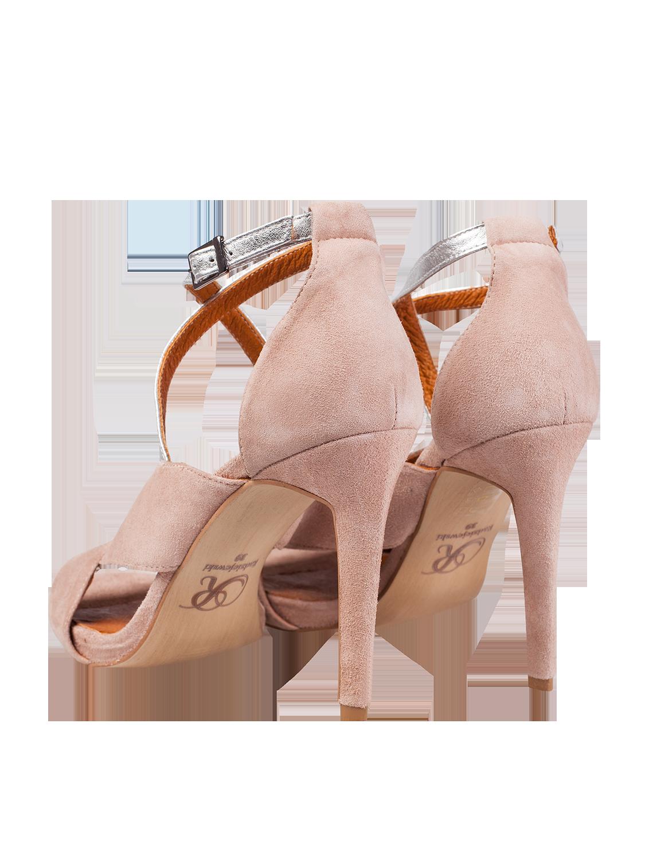 a197a35f6175e7 Beżowe zamszowe sandały na szpilce SWING FASHION STORE