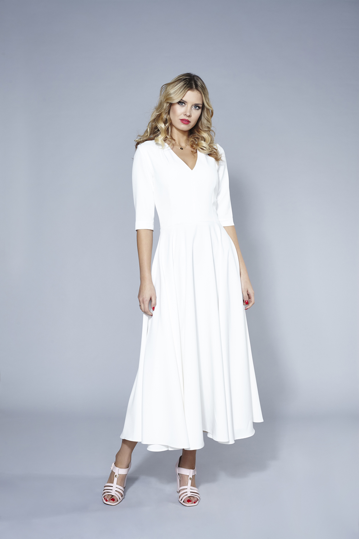 1b6381a223 Sukienka Marilyn Pudrowy Róż by Swing SWING FASHION STORE