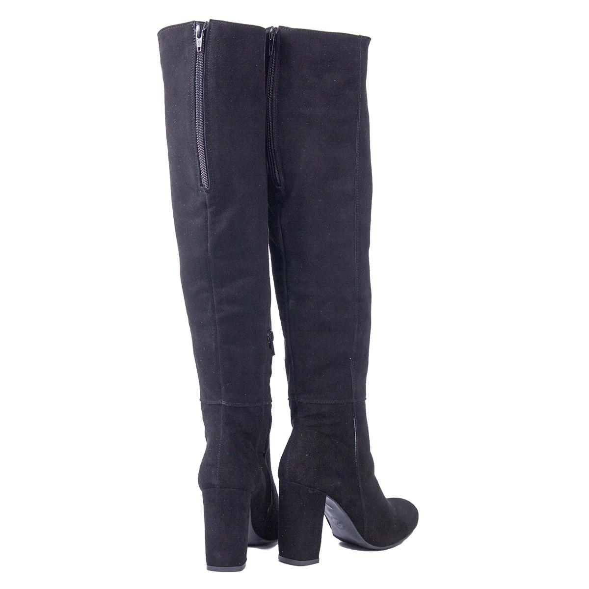 7c1830cac30d3 Czarne zamszowe kozaki za kolano SWING FASHION STORE