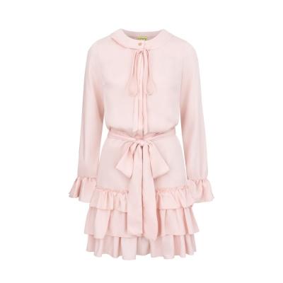5f30bdff4e Pudrowo różowa sukienka Lena by Clooe SWING FASHION STORE