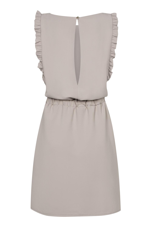 27888b8327 Beżowa sukienka z falbankami Celine by Swing SWING FASHION STORE