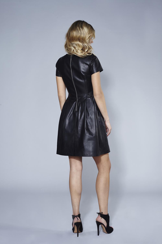 7effe5f123 Czarna skórzana sukienka Marina by SWING SWING FASHION STORE