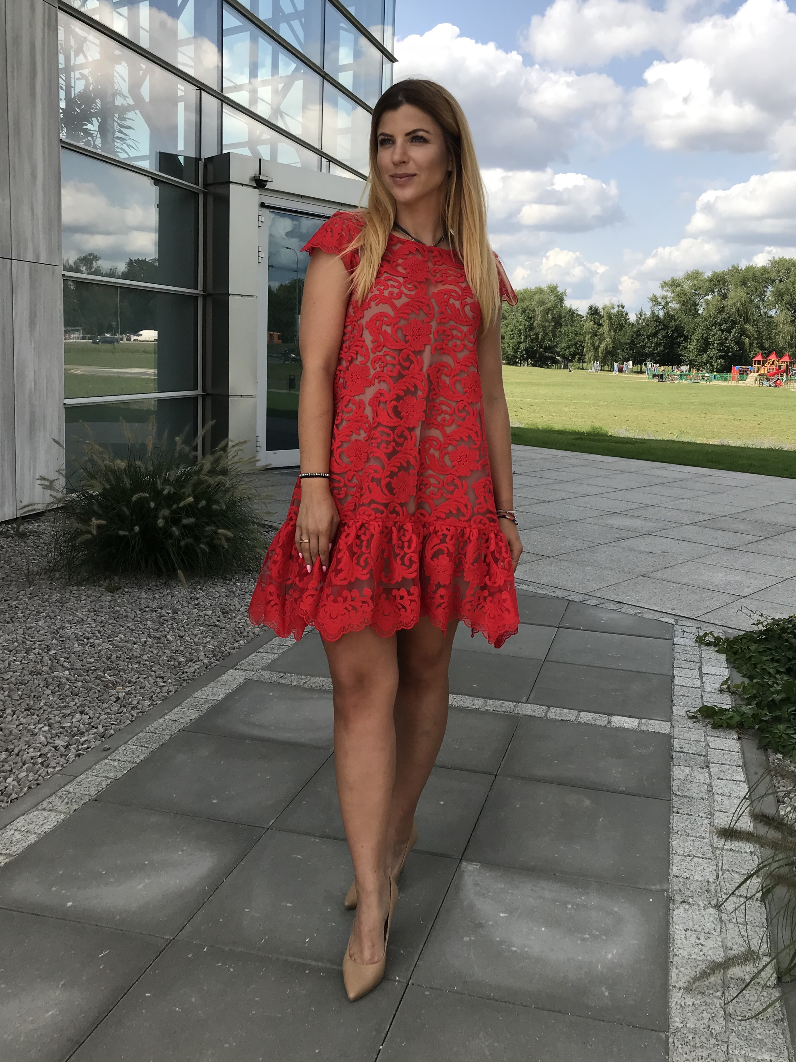 b51fb5225d Red lace dress Pucci by Swing SWING FASHION STORE